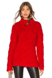Endless Rose Chunky Knit Sweater Red