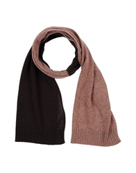 Malo Oblong Scarves Dark Brown