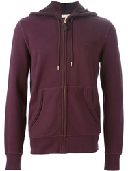 Burberry Brit Zip Logo Hoodie Pink And Purple