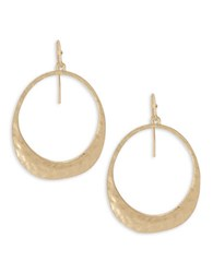 Design Lab Lord And Taylor Circle Cutout Drop Earrings Gold