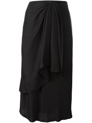 Ann Demeulemeester Wrap Draped Skirt Black