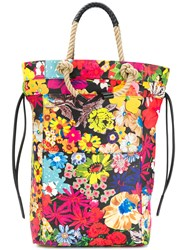 Ports 1961 Floral Print Rope Handle Tote Bag Multicolour