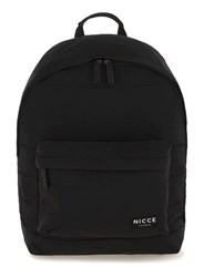 Nicce Black Quilted Nylon Backpack