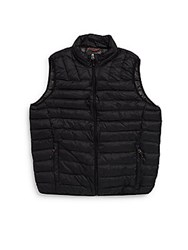 Hawke And Co Solid Sleeveless Quilted Vest Black