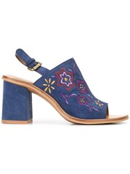 See By Chloe Embroidered Sandals Blue