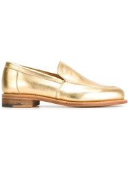 Ymc Metallic Loafers Yellow And Orange