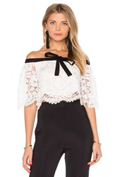Lurelly Haltered Lace Crop Top White