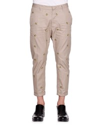 Dsquared Banana Embroidered Pants Tan