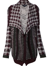 Yigal Azrouel Multi Knit Cardi Coat Red