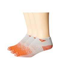 Drymax Sport Thin Run Mini Crew 3 Pair Pack Sunburst Orange Gray Crew Cut Socks Shoes