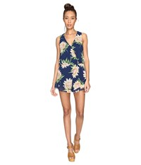 Show Me Your Mumu Riri Romper Sunflower Dreams Women's Jumpsuit And Rompers One Piece Blue