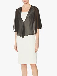 Gina Bacconi Waterfall Chiffon Shawl Black