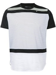 08Sircus Striped T Shirt Black