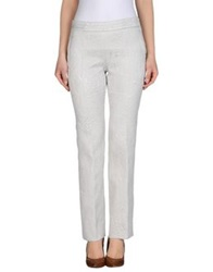 Rochas Casual Pants Light Grey