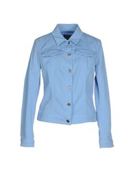 Trussardi Jeans Coats And Jackets Jackets Women Sky Blue