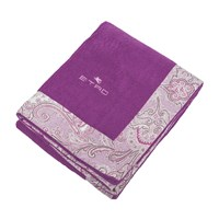 Etro Abbots Beach Towel With Border Purple