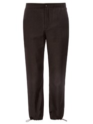 Acne Studios Pace Drawstring Cuff Flannel Wool Trousers