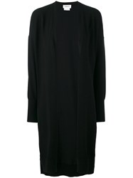 Dkny Long Open Front Cardigan Black