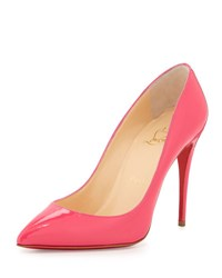 Christian Louboutin Patent Pointed Toe Red Sole Pump Pink Black