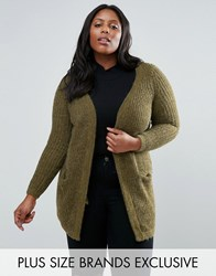 Junarose Knitted Cardigan Green
