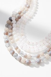 Anthropologie Summer Frost Layered Necklace Grey