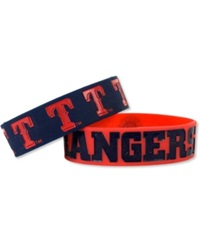 Forever Collectibles Texas Rangers 2 Pack Phat Bandz