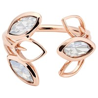 Ted Baker Vipaa Swarovski Crystal Wisteria Ring Rose Gold