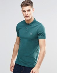 Boss Orange By Hugo Polo Shirt With Logo In Slim Fit Green Green