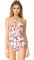 Beach Riot Orchid One Piece Jasmine White Floral