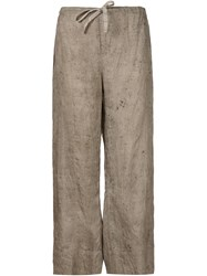 Dosa Wide Leg Trousers Brown