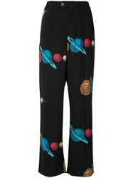 Undercover Planet Print Trousers Black