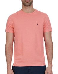 Nautica Big And Tall Solid Cotton Tee Pale Coral