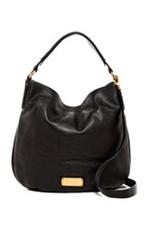 Marc By Marc Jacobs New Q Hillier Leather Hobo Black