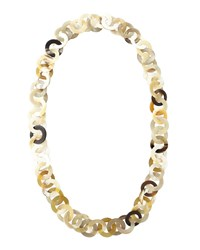 Mixed Horn Circle Link Necklace Nest Jewelry Natural