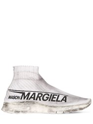 Maison Martin Margiela Vintage Sock Runner Nylon Knit Sneakers White