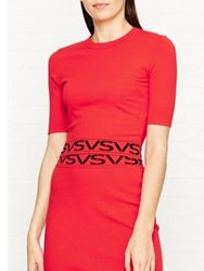 Versus By Versace Logo Cropped Top Red