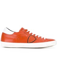 Philippe Model Classic Logo Sneakers Men Leather Foam Rubber 43 Yellow Orange