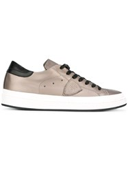 Philippe Model Lace Up Sneakers Metallic