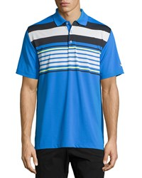 Callaway Striped Short Sleeve Polo Shirt Magnetic Blue
