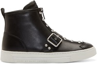 Marc By Marc Jacobs Black Studded Varick Sneakers