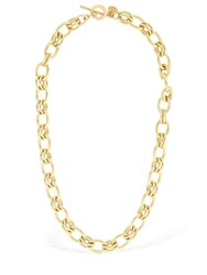 Philippe Audibert Byron Short Brass Chain Necklace Gold