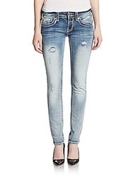Vigoss Chelsea Sequined Skinny Jeans Med Wash