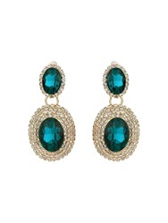Mikey Twin Oval Stone Marquise Drop Clip On Ea Blue