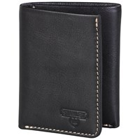 Stanley Tri Fold Leather Wallet Black