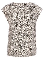 Oasis Animal Print Trimmed T Shirt Multi