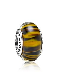 Pandora Design Pandora Charm Murano Glass And Sterling Silver Bengal Tiger Moments Collection Bengal Tiger Silver