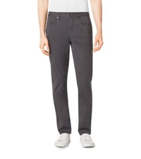 Michael Kors Tailored Fit Stretch Cotton Twill Jeans Smoke