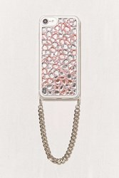 Urban Outfitters Bling It On Diamond Wristlet Iphone 8 7 6 6S Case Ivory