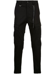 Mastermind Japan Panelled Tapered Trousers Black