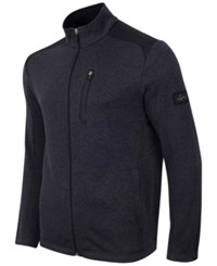 Greg Norman For Tasso Elba Men's Big And Tall Fleece Jacket Only At Macy's Ebony